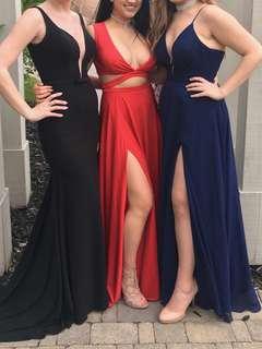 Red Slit Prom Dress