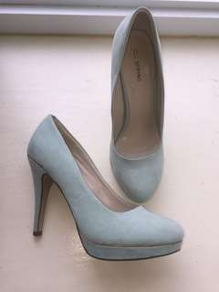 Call It Spring Turquoise Heels