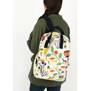 韓國進口 OOH LA LA品牌 SQUARE BACKPACK VER.2  白色背包 書包 100%正貨 全新