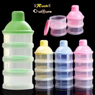 [BRAND NEW] [High Quality} Kids Feeding Container 4 Cells Grid Food Bottle Baby Milk Powder Box