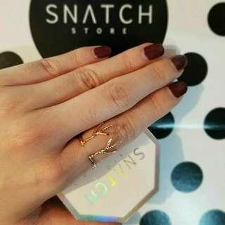 現貨區 :Snatch-斑比鹿角玫瑰金戒指