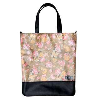 韓國進口 BELZ品牌 Plain Slim Flower Beige Tote Bag 100%正貨 全新 側背袋 斜背袋