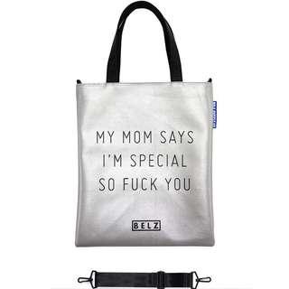 韓國進口 BELZ品牌Take Cross Special Silver 銀色皮 Tote Bag 100%正貨 全新 側背袋 斜背袋