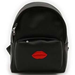 韓國進口 Samo Ondoh 品牌 真皮 14。 Mini Backpack Red Lipsul 紅嘴唇 迷你背包 100%正貨 全新