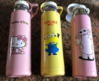Assorted stainless steel flask with a cup (500ml)
