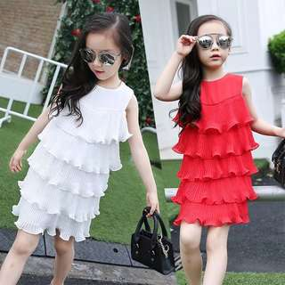 Summer girls big children Korean version of the trend princess dress dress mermaid sleeveless girl skirt