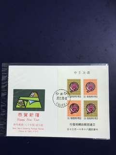 Taiwan Miniature Sheet FDC As in Pictures
