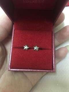 18k 750 gold Earring不议价