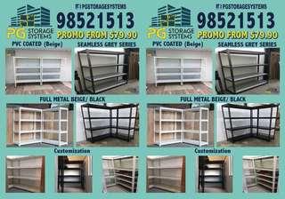 Boltless Metal Storage Shelves (Wood/PVC/Metal)