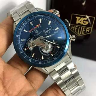 Jam Tag Heuer Carrera RedBull Stainless Steel Silver Black