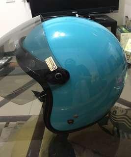安全帽 藍綠色