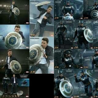 Hottoys Hot Toys Captain America & Steve Rogers MMS243 1/6 Action Figure 美國隊長 2 連 bonus 頭盔