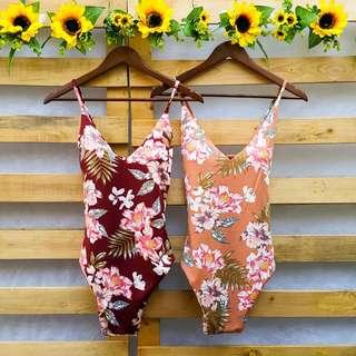 1 Piece Classic Floral Bathing Suit