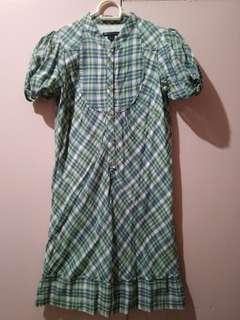 Mango Plaid Dress