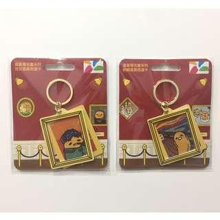 蛋黃哥 名畫系列 造型悠遊卡 全新空卡 Gudetama Sanrio 三麗鷗 吶喊款/梵谷款 2017 附鑰匙圈