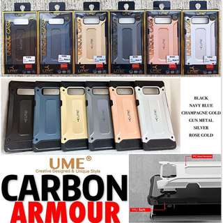 UME Carbon Armour Case Cover Anti-Shock iPhone Samsung