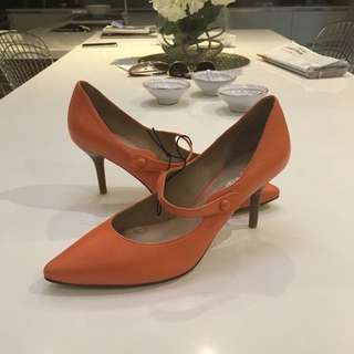 Via Spiga Orange Heels