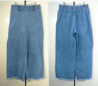 Preloved Wide Leg Denim Pants