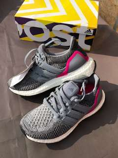Adidas ultra boost grey pink ladies shoes 波鞋