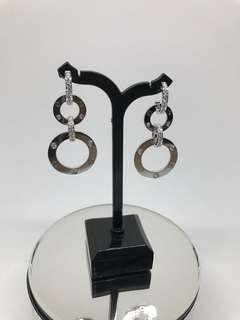 卡地亞Cartier LOVE 吊圈鑽石耳環