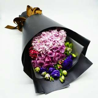 Fresh Flower Bouquet Anniversary Birthday Flower Gifts Graduation Roses Sunfowers Baby Breath -  8DE77     110