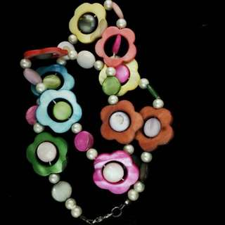 Neon Multi-Color Floral Necklace