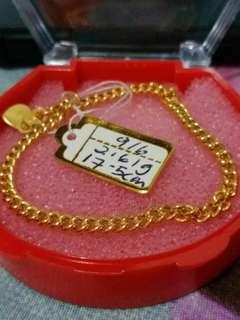 instock 916 gold bracelet