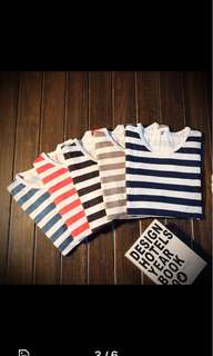 Men stripe longsleeves