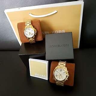 SALE! Michael Kors Couples Watch (Gold & White) (199 each)