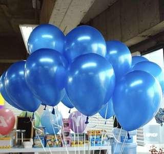 珠光 深藍色 氣球- 12寸