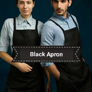 Black apron FREE Name Embroidery