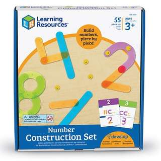Preorders : Learning Resources LER5559   Color-Coded 50 pieces Number Construction Activity Set @ $39.90 - 20% off Retail Price!!! ETA June 2018!
