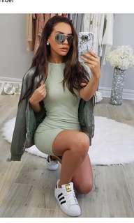 Carli Bybel Missguided mint green bodycon dress