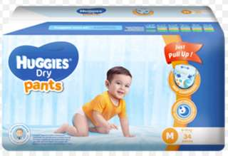 ***Repriced**Huggies Dry Pants Medium