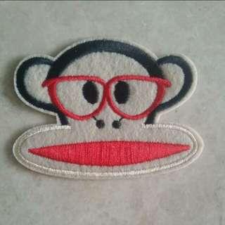 Brand new sew on patch - Monkey Paul Frank