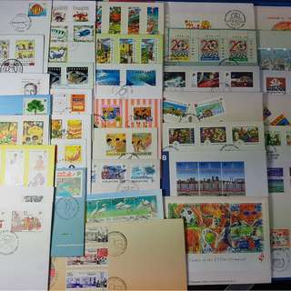 Singapore First Day Cover from 80's and 90's ( Lot of 38 different FDC )