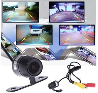 (Ready Stock) Car Rear / Reverse Camera - Waterproof, Wide Angle, Complete with Wiring and Screws