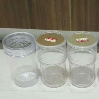 5 x Premium Bird Nest Plastic Bottle Containers With Caps
