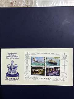 Anguilla Miniature Sheet FDC As in Pictures