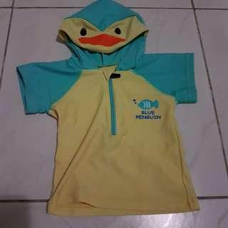 Duck Hoodie Swim Top