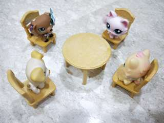 LPS Littest Pet Shop Dining Table w/ Chairs