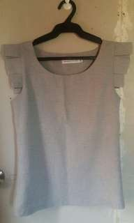 Preloved Gray Office Blouse