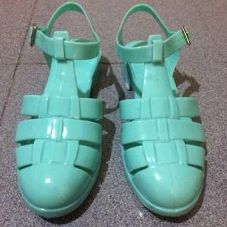 Newlook Mint Jelly Shoes (uk 37) #diskonnih