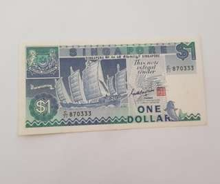 Old Singapore $1