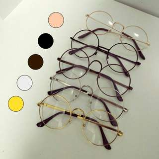 🚚 INSTOCK [round circle] Korean spectacles Korean specs ulzzang fake specs spectacles frame no degree