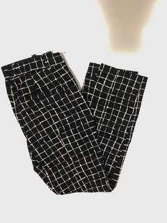 Zara Grid print trousers size. Xs