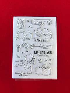Honey bear scrapbooking clear stamps