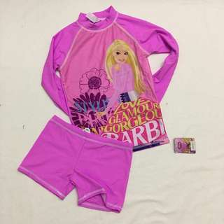 Barbie Terno Top and Short Rashguard Swim Wear
