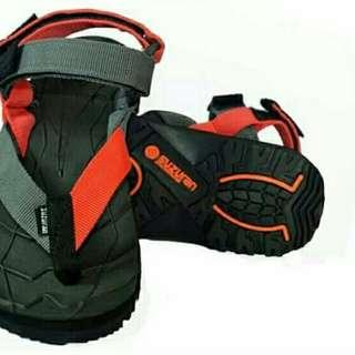 Sandal Gunung Suzuran Extremr x Mr1 Black w Red Dark Grey