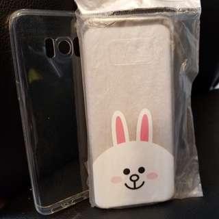 三星S8 跟機原手機套(兔子+透明)
